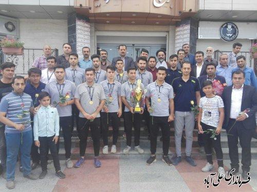 """برگزاری مراسم استقبال از تیم """"شهدای مدافع حرم شهرستان علی آبادکتول"""""""