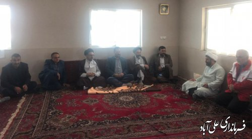 دیدار فرماندار با امام جمعه شهرستان علی آبادکتول و شهر مزرعه کتول
