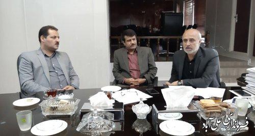 دیدار فرماندار با مدیرعامل شرکت غله و خدمات بازرگانی استان گلستان