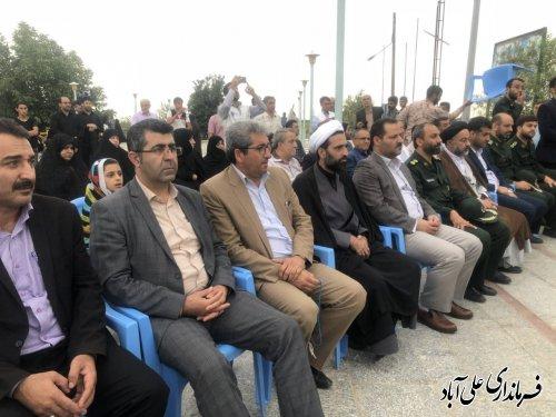 برگزاری عطر افشانی مزار شهدای عرصه رسانه در شهرستان علی آبادکتول