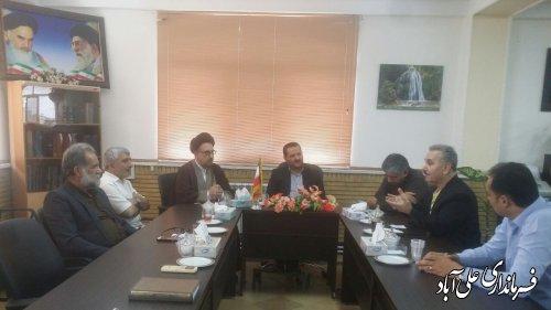 دیدار فرماندار با مسئول و اعضای انجمن موسیقی در شهرستان علی آبادکتول