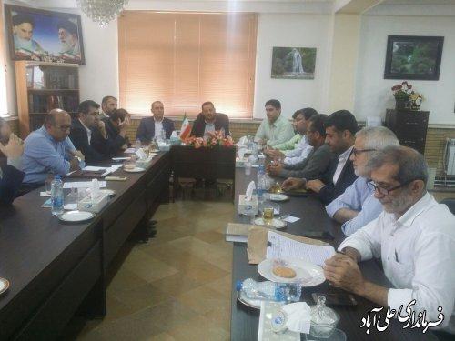 برگزاری جلسه شورای سلامت شهرستان علی آبادکتول