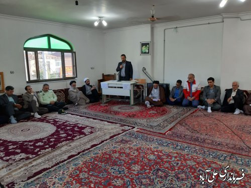 دیدار فرماندار و اعضای شورای اداری با امام جمعه شهرستان علی آبادکتول