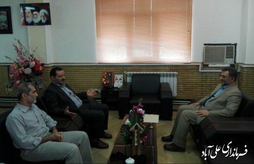 دیدار رئیس دادگستری با فرماندار شهرستان علی آبادکتول