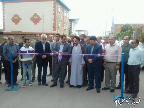 افتتاح متمرکز پروژه های شهرداری فاضل آباد