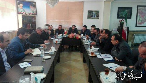 برگزاری جلسه ستاد مدیریت بحران شهرستان علی آبادکتول