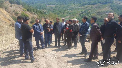 بازگشایی جاده اصلی روستای میان رستاق