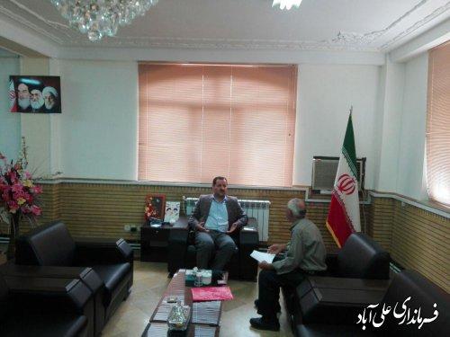 برگزاری ملاقات عمومی فرماندار با مردم