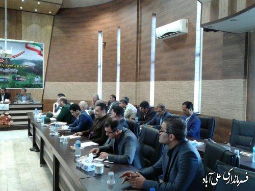 برگزاری جلسه شورای هماهنگی مبارزه با مواد مخدر شهرستان علی آبادکتول