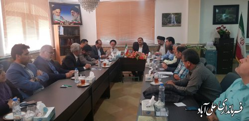 برگزاری جلسه ستاد اربعین حسینی شهرستان علی آبادکتول