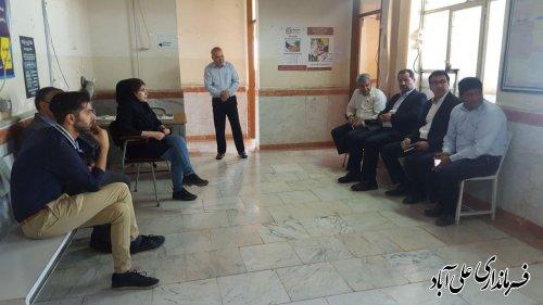 بازدید فرماندار از مرکز خدمات جامع روستای قره بلاغ