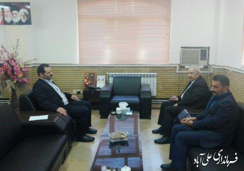 دیدار مدیرکل انتقال خون استان گلستان با فرماندار شهرستان علی آبادکتول