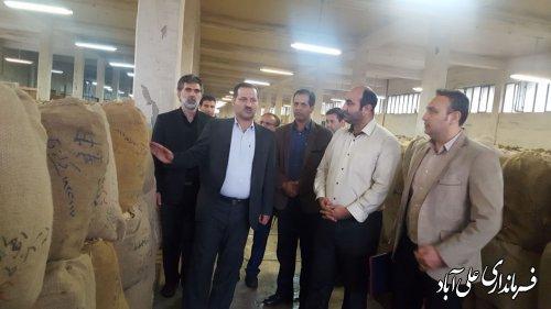بازدید فرماندار از شرکت دخانیات شهرستان علی آبادکتول