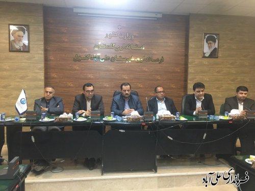 افتتاح متمرکز پروژه های پدافند غیرعامل شرکت آب و فاضلاب روستائی استان گلستان