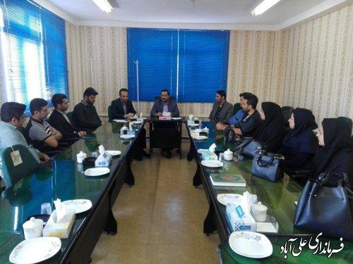 برگزاری جلسه کارشناسان کمیته فناوری ستاد اجرایی انتخابات شهرستان علی آبادکتول