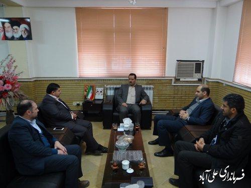 دیدار فرماندار با رئیس و اعضاء هیات بازرسی انتخابات حوزه انتخابیه شهرستان علی آبادکتول