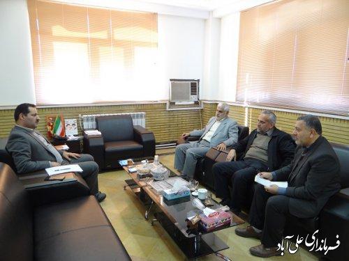 جلسه فرماندار با رئیس و اعضاء هیات نظارت بر انتخابات حوزه انتخابیه شهرستان علی آبادکتول