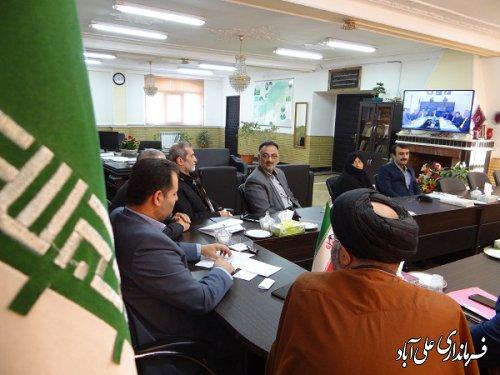 ارائه گزارش از فعالیت هیات اجرائی ستاد انتخابات شهرستان علی آبادکتول