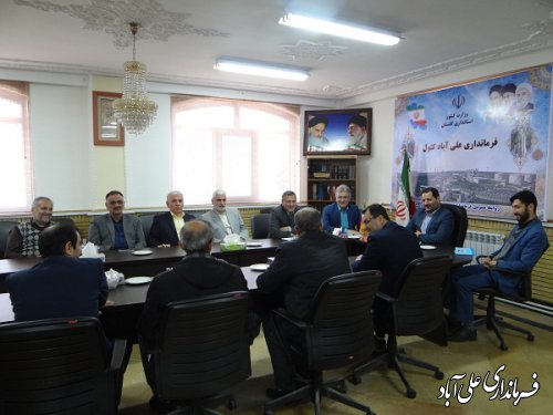 برگزاری جلسه هماهنگی هیات نظارت و اجرائی ستاد انتخابات شهرستان علی آبادکتول