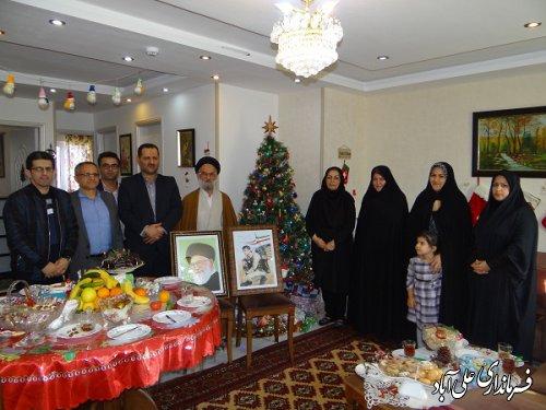 دیدار فرماندار علی آباد کتول با خانواده مسیحی در اولین روز از سال نو میلادی