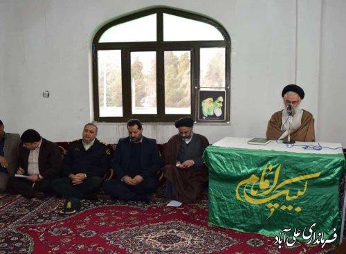 """دیدار با امام جمعه شهرستان در ادامه برنامه های """" ایام الله دهه فجر """""""