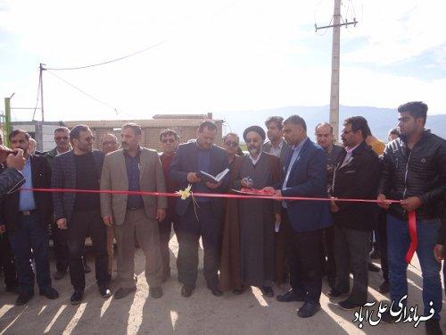 افتتاح متمرکز پروژه عمرانی روستای قوشکرپی بخشداری مرکزی