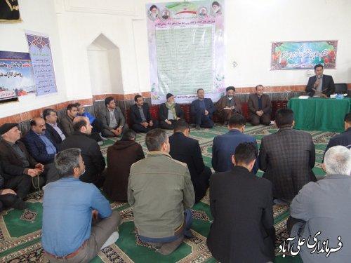 افتتاح متمرکز پروژه عمرانی روستای ضیاءآباد و احمد آباد بخشداری کمالان