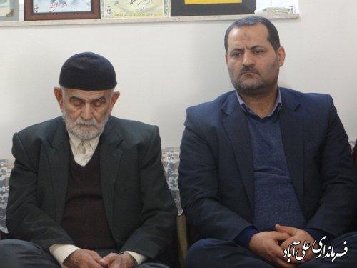 دیدار با خانواده معظم شهدای انقلاب اسلامی شهرستان علی آبادکتول