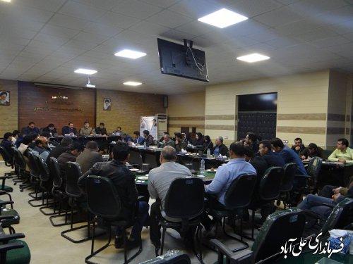 برگزاری جلسه هماهنگی و پشتیبانی ستاد انتخابات شهرستان