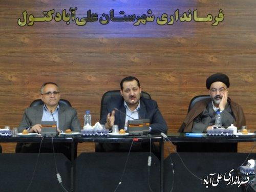 برگزاری گردهمائی علما و روحانیون شهرستان با موضوع حضور حداکثری مردم در انتخابات
