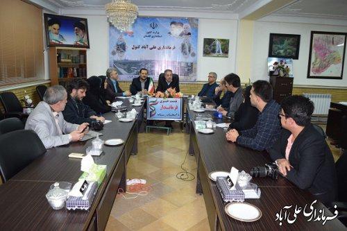 برگزاری نشست خبری فرماندار با اصحاب رسانه شهرستان علی آباد کتول