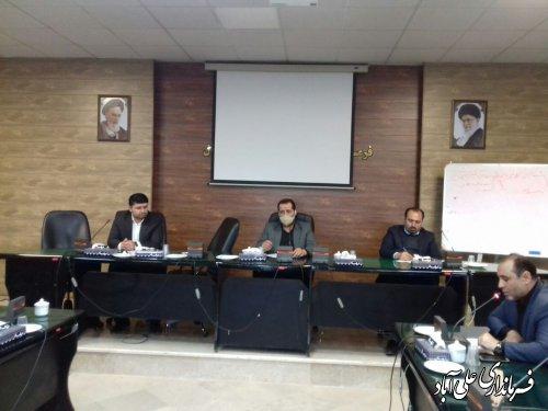 برگزاری جلسه شورای هماهنگی مدیریت بحران با محوریت مقابله با بیماری کرونا در شهرستان علی آبادکتول