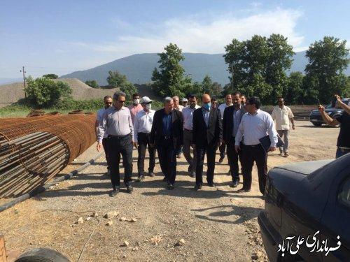 حضور استاندار در شهرستان علی آباد کتول