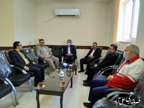 دیدار فرماندار علی آبادکتول با رییس دادگستری به مناسبت هفته قوه قضائیه