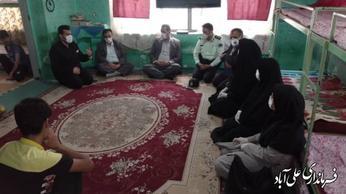 بازدید فرماندار از کمپ های ترک اعتیاد شهرستان به مناسبت هفته مبارزه با مواد مخدر