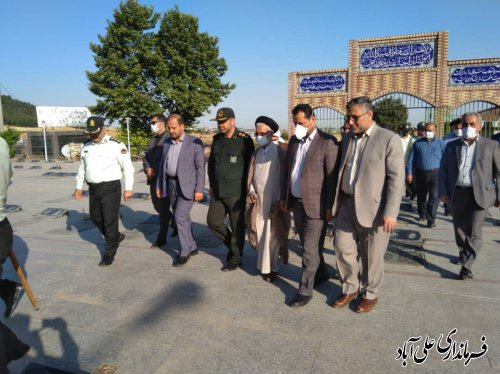 تجدید میثاق دوباره باآرمان های بلند شهدا توسط نماینده عالی دولت و مسئولین شهرستان