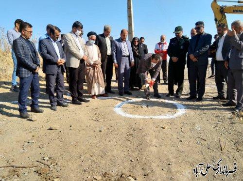 با حضور فرماندارمراسم کلنگ زنی پروژه احداث پل ورودی ورزشگاه شهید علی آبادی برگزار شد