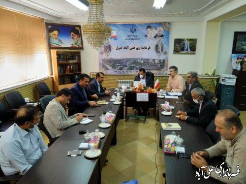 جلسه شورای نظارت برنامگذاری معابر شهری با حضور فرماندار شهرستان برگزار شد