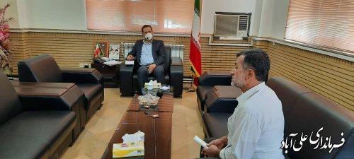 ملاقات عمومی فرماندار با مردم شهرستان با رعایت پروتکل های بهداشتی برگزار شد