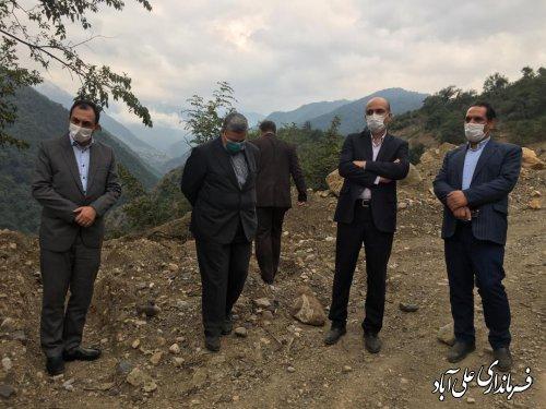 بازدید معاون وزیر راه از محورهای استحفاظی شهرستان علی آباد کتول
