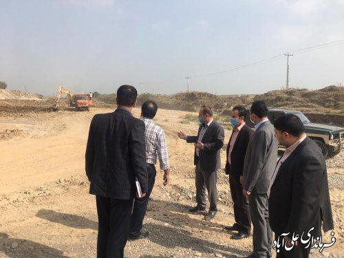 بازدید  فرماندار از معادن و کارگاههای شن و ماسه فعال شهرستان