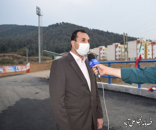 پل ورزشگاه شهید علی آبادی با اعتبار یک میلیارد تومان افتتاح شد