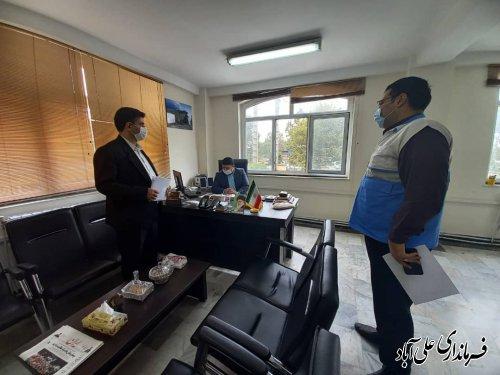 بازدید سرزده نماینده ستاد پیشگیری و مقابله با کرونا از فرمانداری شهرستان