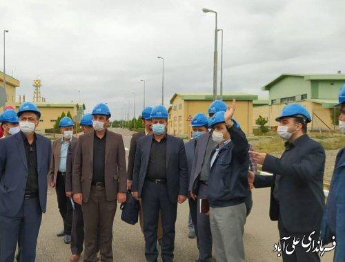 بازدید فرماندار از نیروگاه  درراستای تحقق شعار جهش تولید و اشتغالزایی