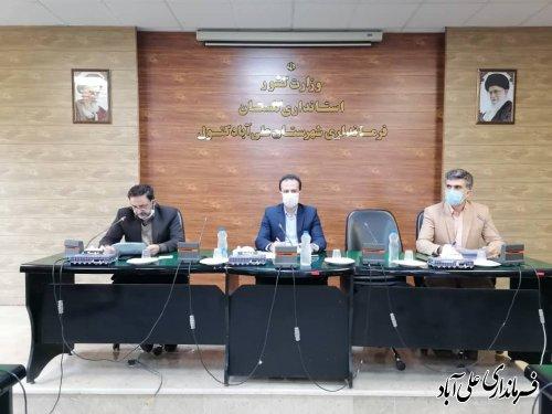 جلسه کارگروه مدیریت توسعه فضای سبز شهرستان برگزار شد