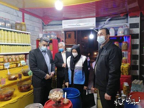 بازدید های شبانه از صنوف شهرستان در خصوص چگونگی رعایت پروتکل های بهداشتی