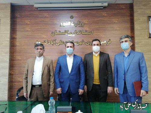 بخشدار مرکزی شهرستان علی آباد کتول معارفه شد
