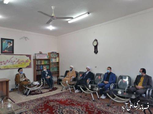 دیدار با نماینده خبرگان رهبری و ائمه جمعه شهرستان علی آباد کتول