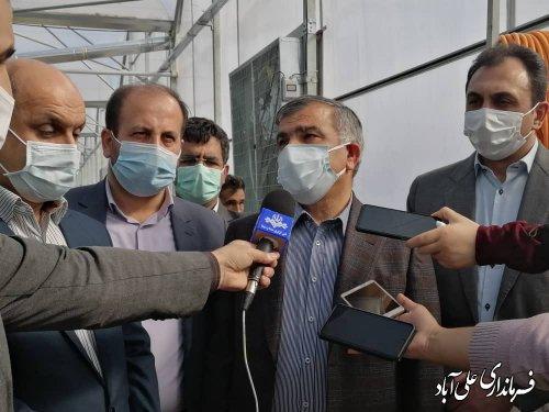 افتتاح بزرگترین گلخانه تولید محصولات کشاورزی استان، در علی آباد کتول