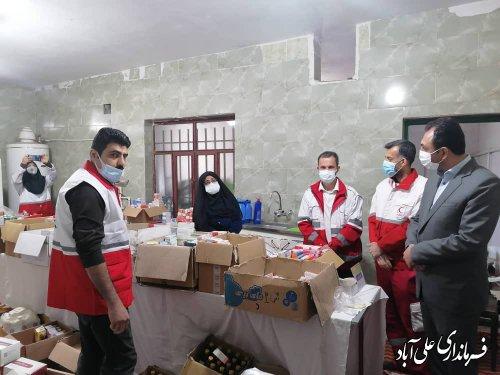 استقرار کاروان سلامت در مناطق کم برخوردار شهرستان علی آبادکتول